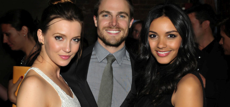 Katie Cassidy, Stephen Amell & Jessica Lucas At The CW's Upfront Party