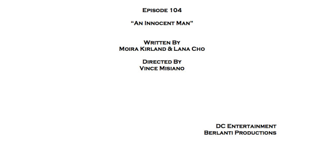 "Arrow Episode 4 Title Change & Cover Page: ""An Innocent Man"""