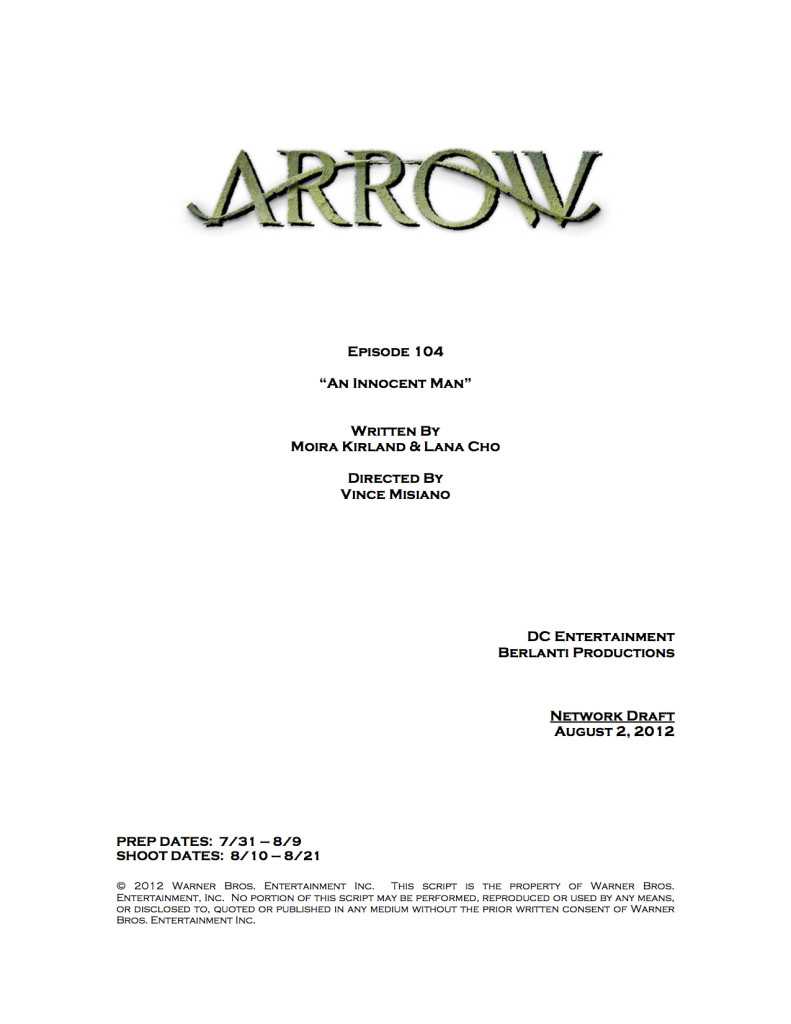 arrow episode 4 title change cover page an innocent man 0 1