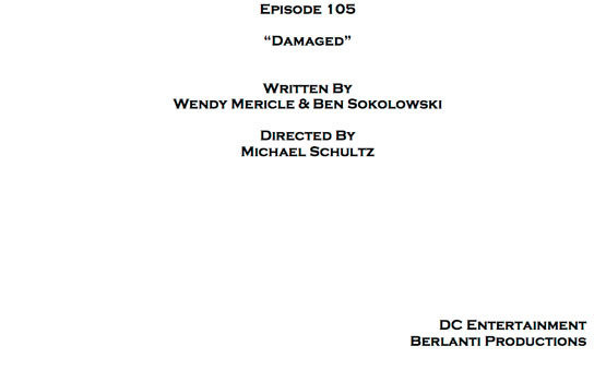 Arrow Episode 5: Title, Credits & Cover Page