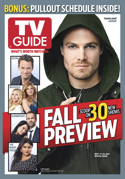 here s the cover arrow on tv guide magazine s fall preview issue rh greenarrowtv com tv guide magazine subscription cheapest tv guide magazine subscription help