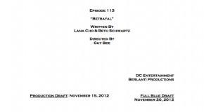 "Arrow Episode 13 ""Betrayal"" Credits"