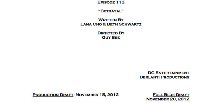 "Arrow Episode 13 ""Betrayal"" Credits"