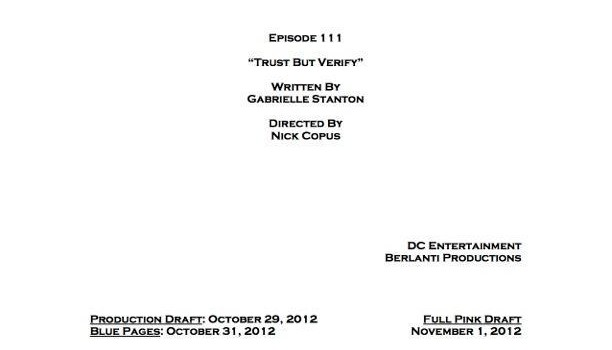 Arrow Episode 11 Title & Credits