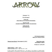 "Arrow Episode 14 ""The Odyssey"" Credits"