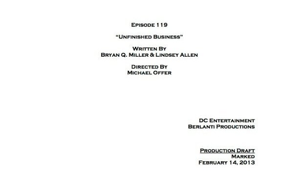 """Arrow Episode 19 """"Unfinished Business"""" Co-Written By Bryan Q. Miller!"""