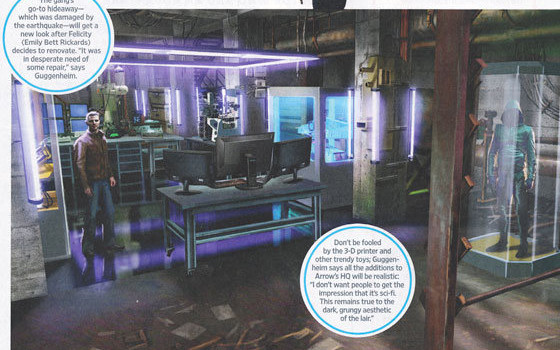 Arrow: Entertainment Weekly Reveals Season 2 Spoilers & An Updated Lair