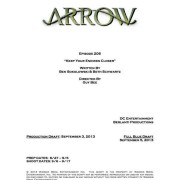 "Arrow #2.6 ""Keep Your Enemies Closer"" Writer & Director Credits"