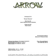 "Arrow Episode #2.10 ""Blast Radius"" – Writer & Director Info"