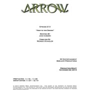 """Arrow Episode #2.13 """"Heir To The Demon"""" – Writer & Director Revealed"""