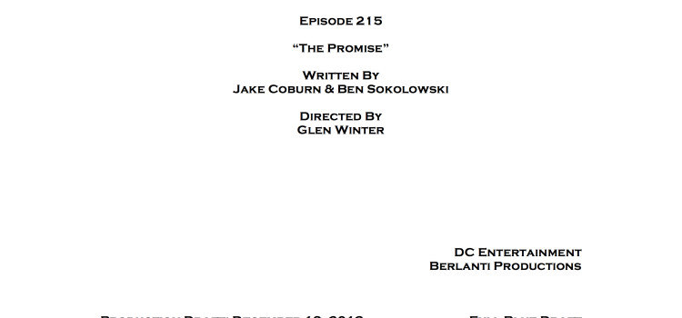 Arrow First Reveal: Title & Credits For Episode #2.15!