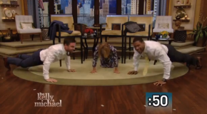 Video: Stephen Amell Does Push-Ups On Live! With Kelly And Michael