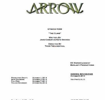 Arrow Episode #3.9 Title & Credits