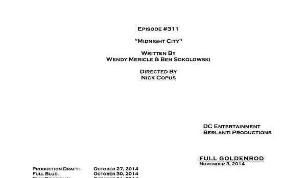 Arrow #3.11 Title & Credits