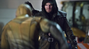"""Photos: Oliver Queen Visits The Flash In """"Rogue Air"""""""