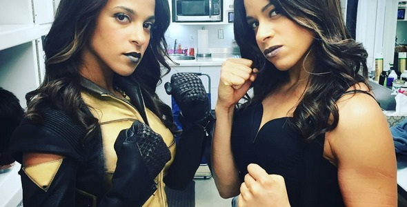 Megalyn E.K. Posts A Photo With Her Vixen Stunt Double