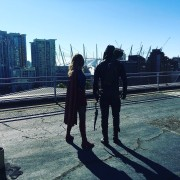 Photo: Green Arrow, Supergirl, And A Roof