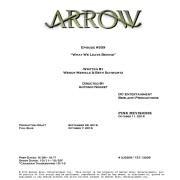 Arrow #5.9 Title & Credits Revealed