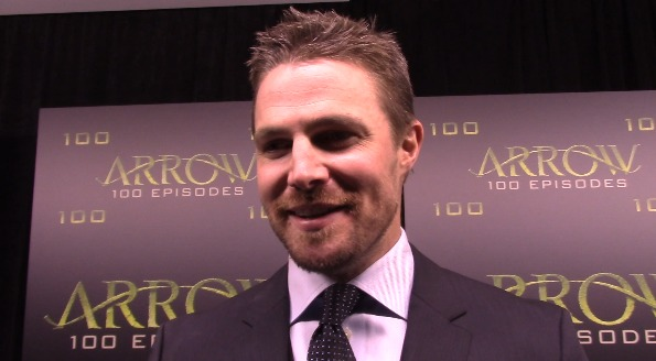 "Video: Stephen Amell On The Arrow Episode 100 ""Green Carpet"""