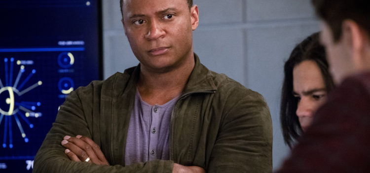 "Photos: David Ramsey Visits The Flash In ""Think Fast"""