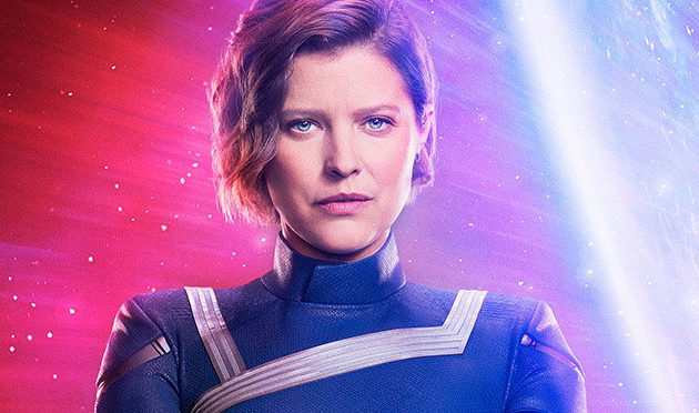 Photo: Audrey Marie Anderson (Lyla) Suits Up As Harbinger For Crisis on Infinite Earths
